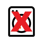 Do Not Tumble Dry Icon