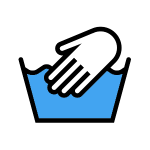 Handwash Only Icon