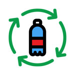 Made From Recycled Bottles Icon