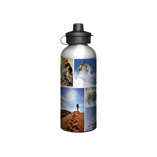 600ml Full Colour Aluminium Sports Bottle - Silver