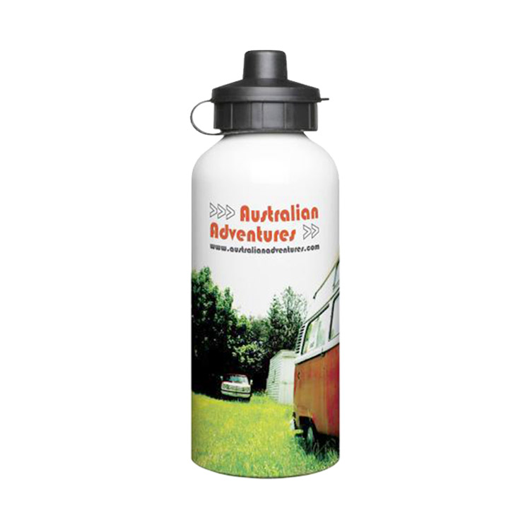 600ml Full Colour Aluminium Sports Bottle - White