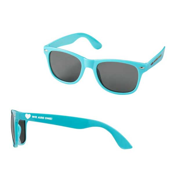 Aqua Blue Sun Ray Sunglasses