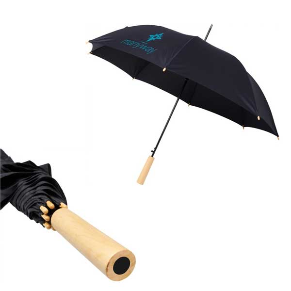 Black Alina Recycled Umbrella