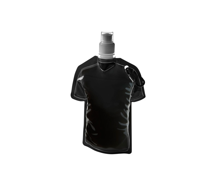 Black Goal Football Jersey Foldable Water Bottle