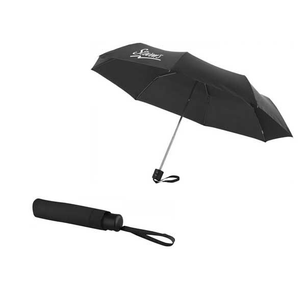 Black Ida Foldable Umbrella