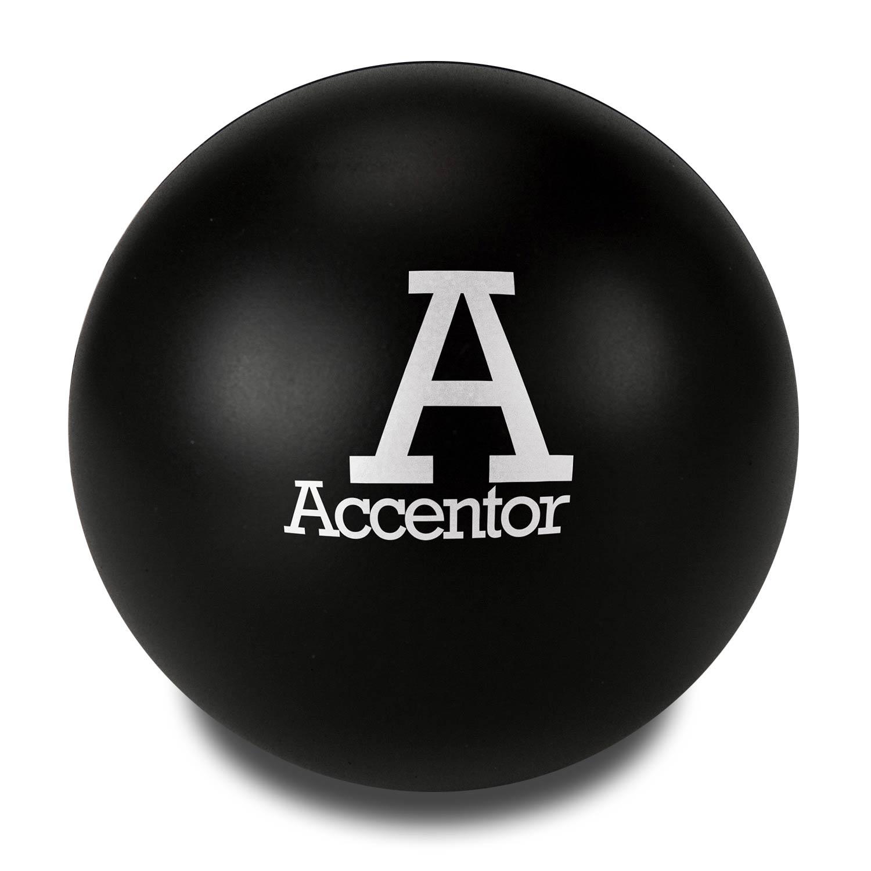 Black Customised Stress Balls