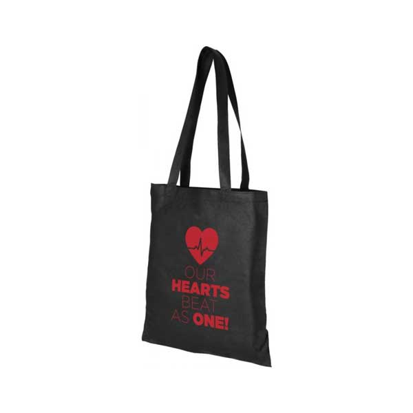 Black Zeus Large Non-woven Tote Bag