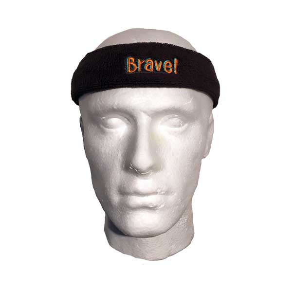 Custom Branded Head Sweatband - Side View
