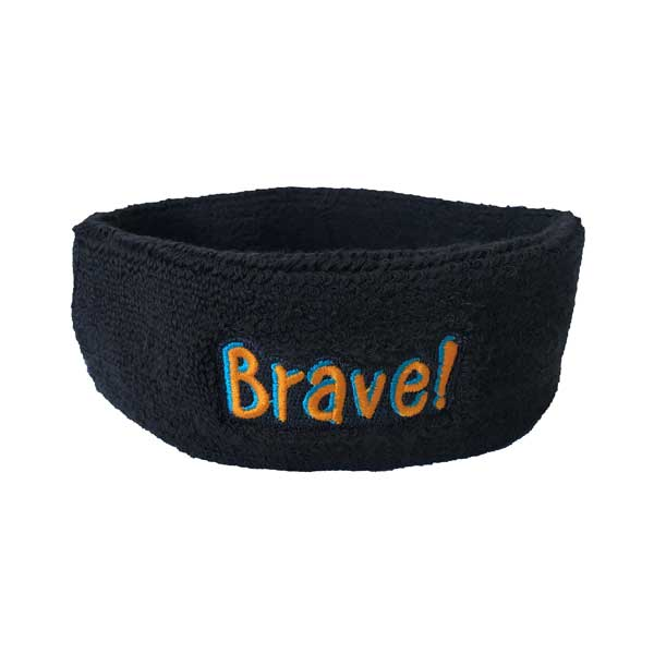 Custom Branded Head Sweatband - Front View