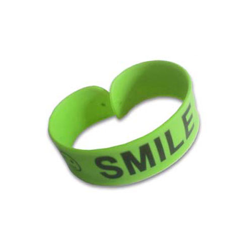 Custom Printed Silicone Snap Bracelet - Rolled Up Position