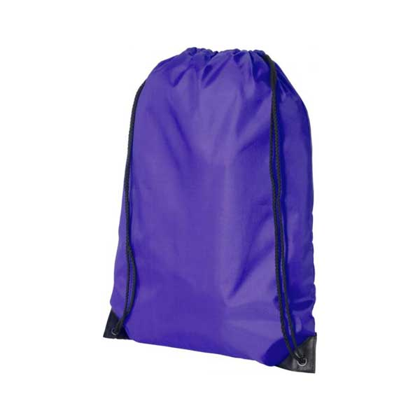 Dark Purple Oriole Premium Drawstring Backpack