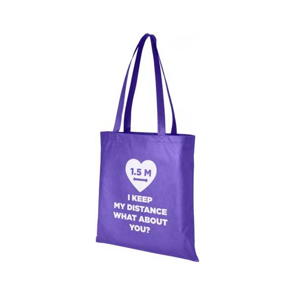 Dark Purple Zeus Large Non-woven Tote Bag