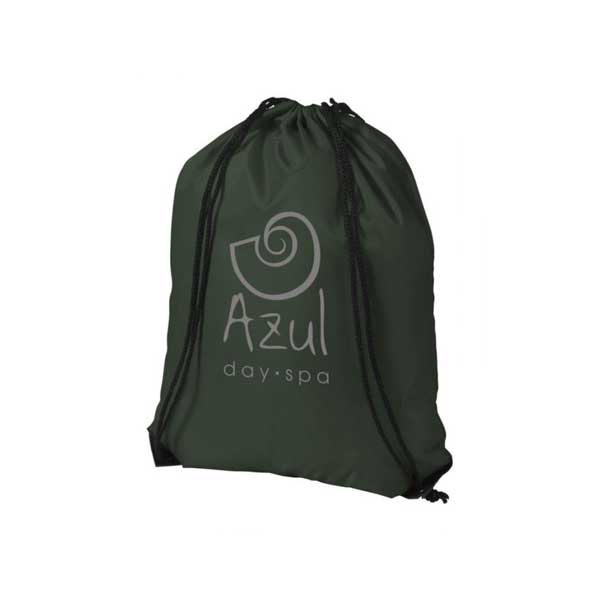 Forest Green Oriole Premium Drawstring Backpack