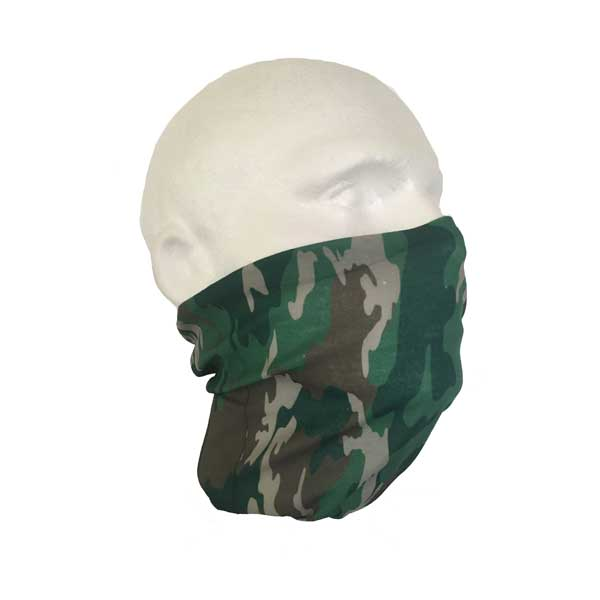 Jungle Camo Bandana - Worn As A Face Mask