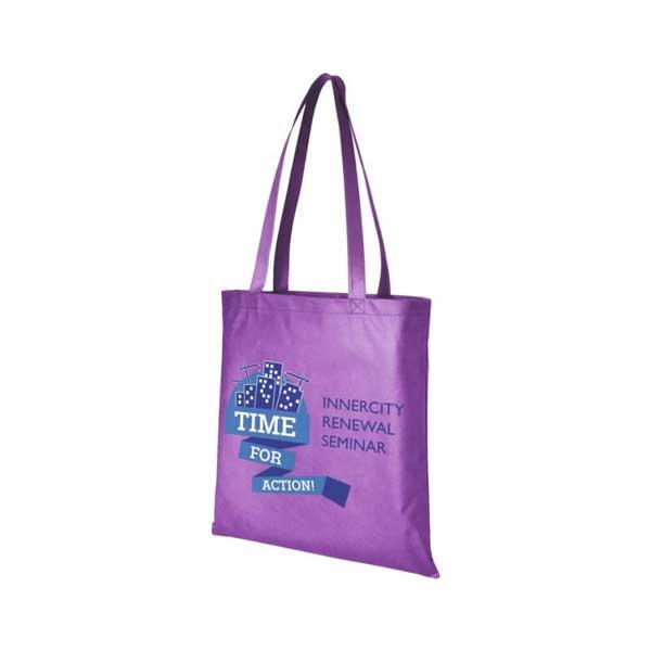 Lavender Zeus Large Non-woven Tote Bag