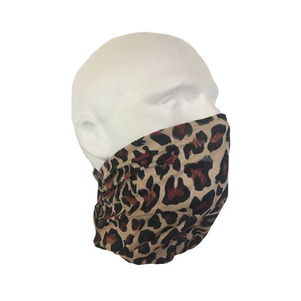 Leopard Print Bandana - Worn As A Face Cover