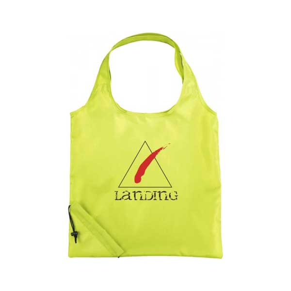 Lime Green Bungalow Foldable Tote Bag