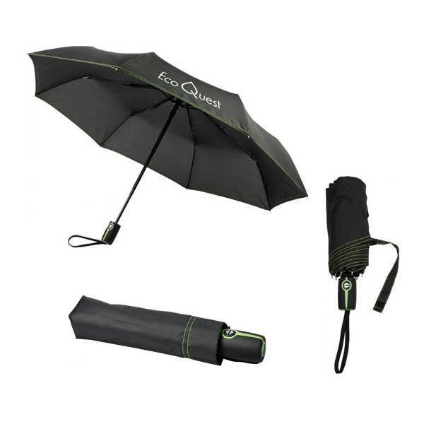 Black & Lime Green Stark Mini Foldable Umbrella