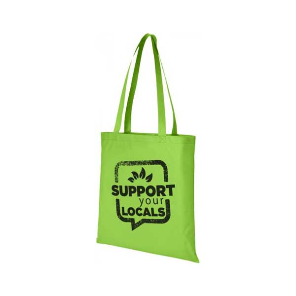 Lime Green Zeus Large Non-woven Tote Bag