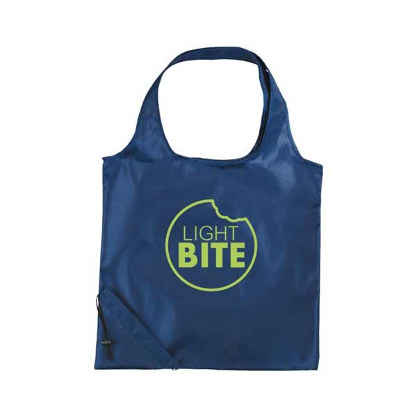 Navy Blue Bungalow Foldable Tote Bag