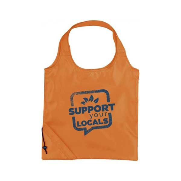 Orange Bungalow Foldable Tote Bag