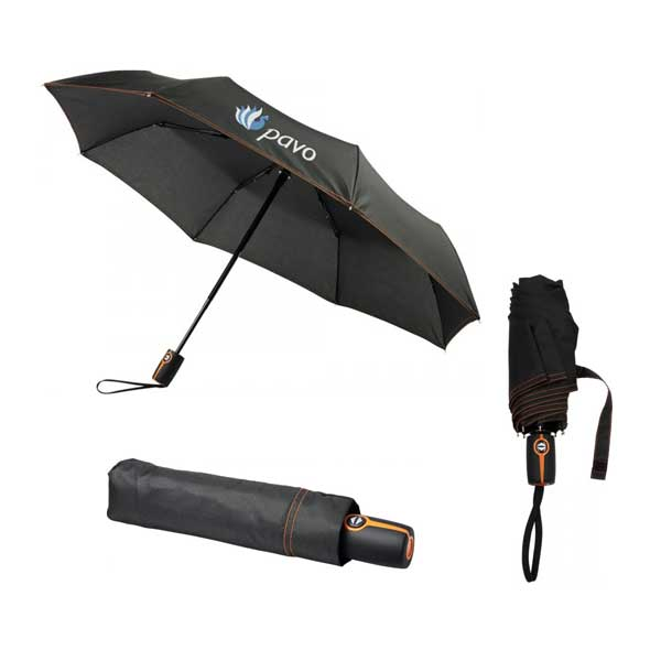 Black & Orange Stark Mini Foldable Umbrella