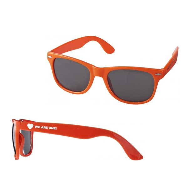 Orange Sun Ray Sunglasses