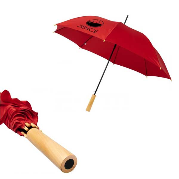 Red Alina Recycled Umbrella