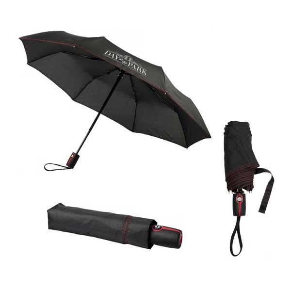 Black & Red Stark Mini Foldable Umbrella