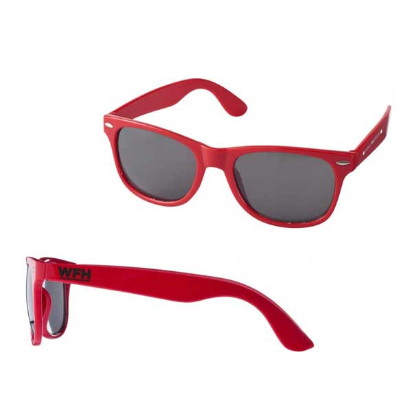 Red Sun Ray Sunglasses