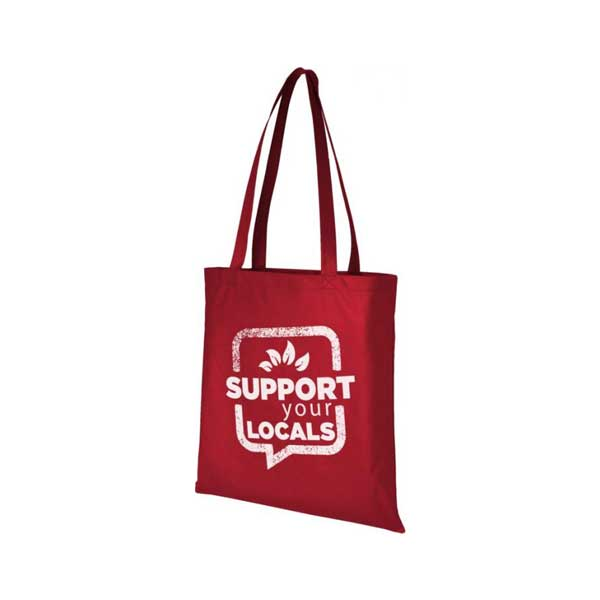 Red Zeus Large Non-woven Tote Bag