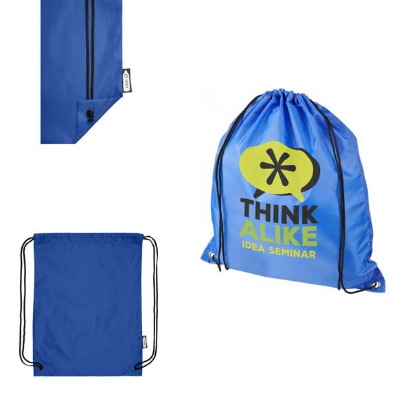Royal Blue Oriole Recycled Drawstring Backpack