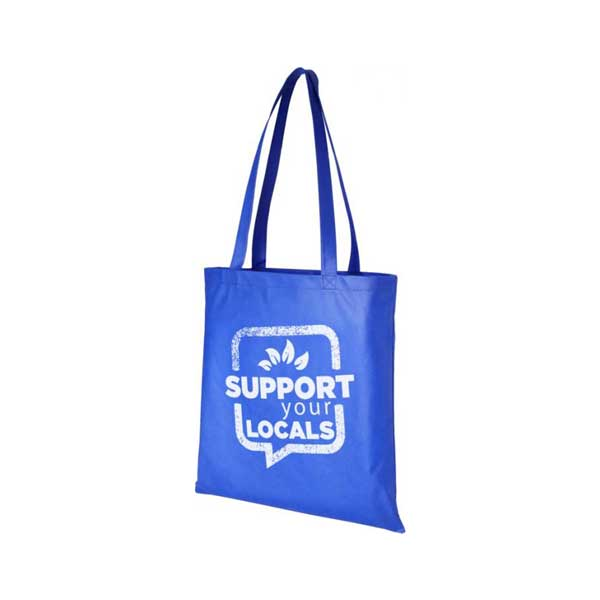 Royal Blue Zeus Large Non-woven Tote Bag