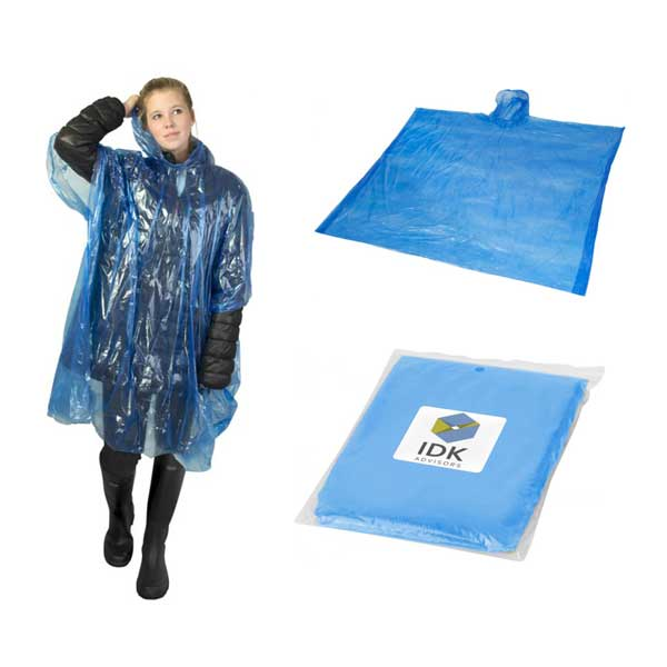 Royal Blue Ziva Rain Poncho With Pouch