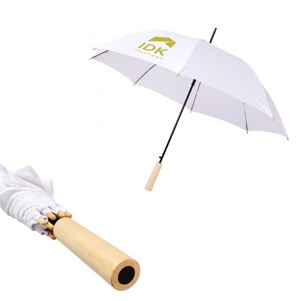 White Alina Recycled Umbrella