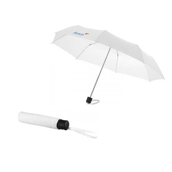 White Ida Foldable Umbrella