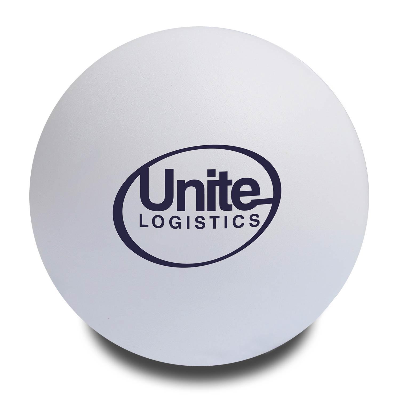 White Customised Stress Balls