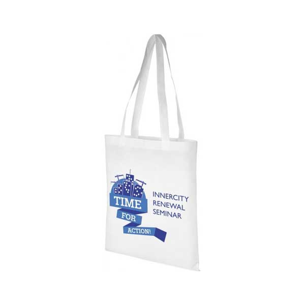 White Zeus Large Non-woven Tote Bag