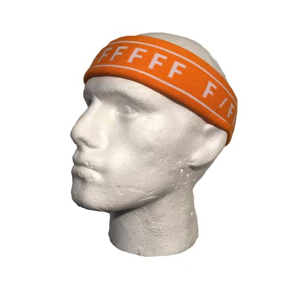 Custom Woven Head Sweatband - Side View