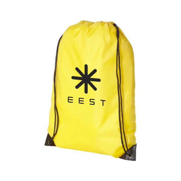 Yellow Oriole Premium Drawstring Backpack