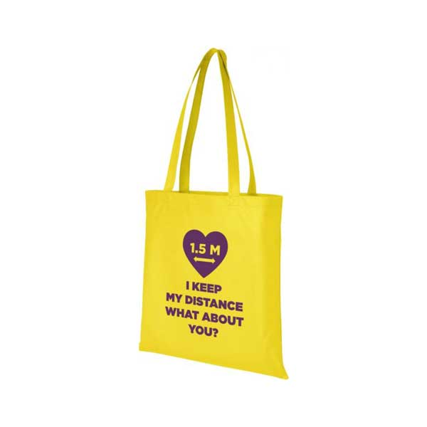 Yellow Zeus Large Non-woven Tote Bag